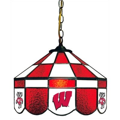 NCAA 14 Wide Swag Hanging Lamp Style: Executive, NCAA Team: Wisconsin