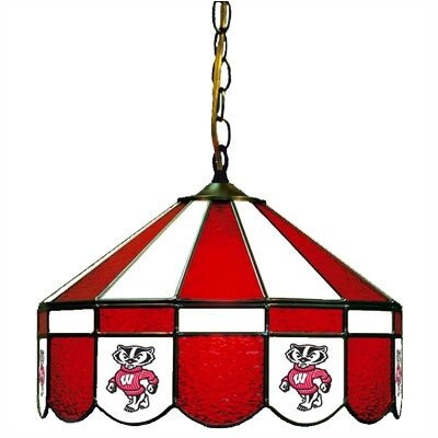 NCAA Wide Swag Hanging Lamp NCAA Team: Wisconsin - Mascot