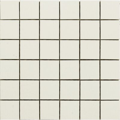 2 x 2 Porcelain Mosaic Tile in White Jade