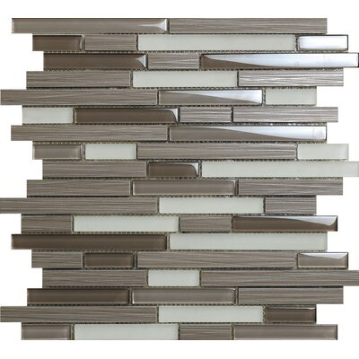 Duo Bambu Dark Aluminum Mosaic Tile in Gray