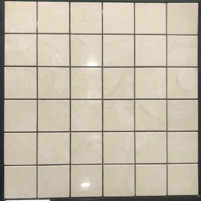 Millenium 2 x 2 Porcelain Mosaic Tile in Off Cream