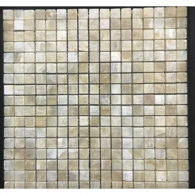 Pompeya Onyx 0.66 x 0.66 Natural Stone Mosaic Tile in Beige