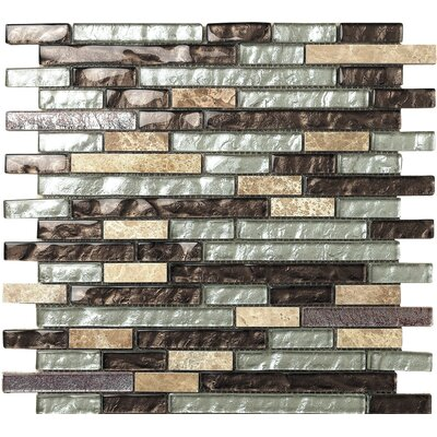 Marbella Marron Glass Mosaic Tile in Brown/Beige