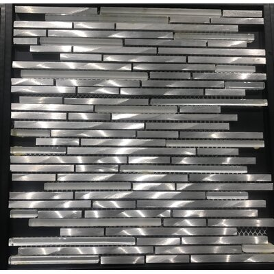Akira Aluminum Mosaic Tile in Silver
