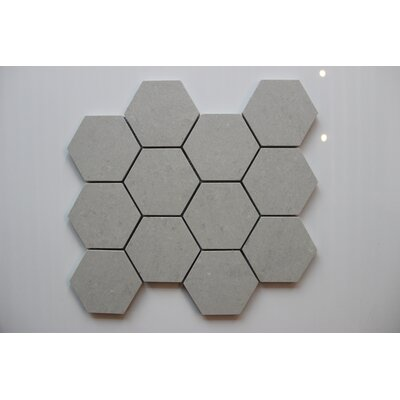 Hexagon Andorra Griggio 3 x 3 Porcelain Mosaic Tile in Gray