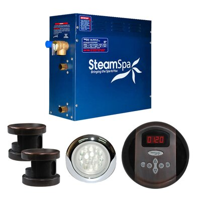 SteamSpa Indulgence 10.5 KW QuickStart Steam Bath Generator Package in Oil Rubbed Bronze