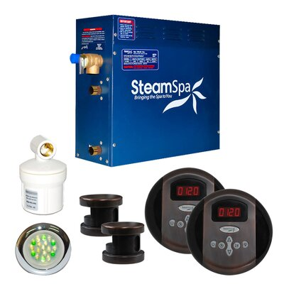 SteamSpa Royal 12 KW QuickStart Steam Bath Generator Package in Oil Rubbed Bronze