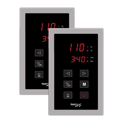 SteamSpa Dual Touch Panel Control System Finish: Brushed Nickel