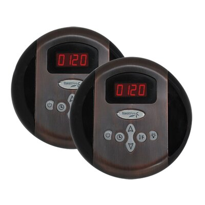 SteamSpa Programmable Dual Control Panels in Oil Rubbed Bronze