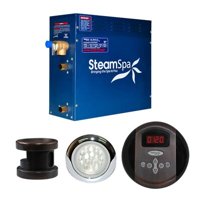 SteamSpa Indulgence 9 KW QuickStart Steam Bath Generator Package in Oil Rubbed Bronze