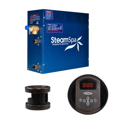 SteamSpa Oasis 4.5 KW QuickStart Steam Bath Generator Package in Oil Rubbed Bronze