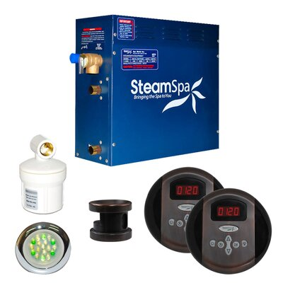 SteamSpa Royal 7.5 KW QuickStart Steam Bath Generator Package in Oil Rubbed Bronze