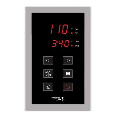SteamSpa Touch Panel Control System Finish: Brushed Nickel