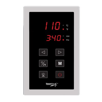 SteamSpa Touch Panel Control System Finish: Chrome