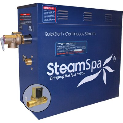 6 kW QuickStart Steam Bath Generator with Built-in Auto Drain