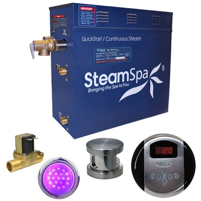 Indulgence 6 kW QuickStart Steam Bath Generator Package with Built-in Auto Drain Finish: Polished Chrome
