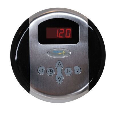 SteamSpa Programmable Control Panel with Presets Finish: Chrome