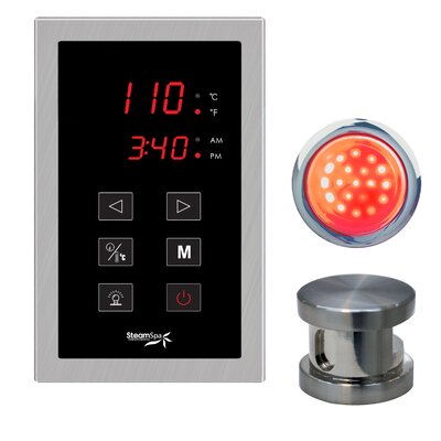 SteamSpa Indulgence Touch Panel Control Kit Finish: Chrome