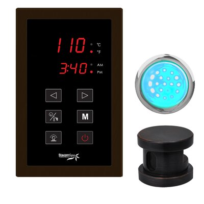 SteamSpa Indulgence Touch Panel Control Kit Finish: Oil Rubbed Bronze