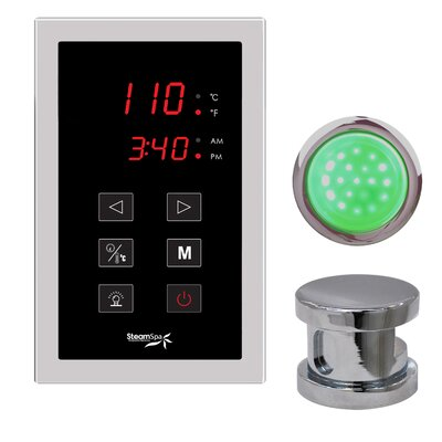 SteamSpa Indulgence Touch Panel Control Kit Finish: Brushed Nickel
