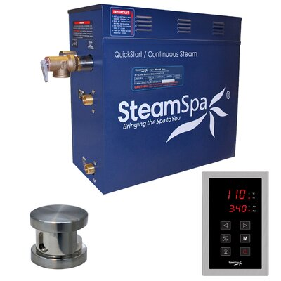 Oasis 4.5 kW QuickStart Steam Bath Generator Package Finish: Brushed Nickel