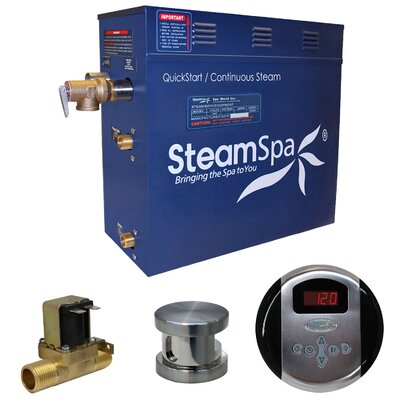 Oasis 6 kW QuickStart Steam Bath Generator Package with Built-in Auto Drain Finish: Brushed Nickel