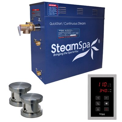 Oasis 12 kW QuickStart Steam Bath Generator Package Finish: Brushed Nickel