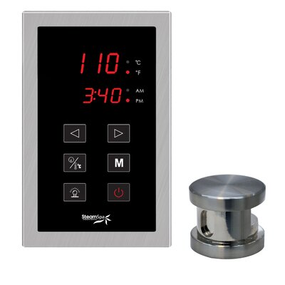SteamSpa Oasis Touch Panel Kit Steam Generator Control Finish: Brushed Nickel