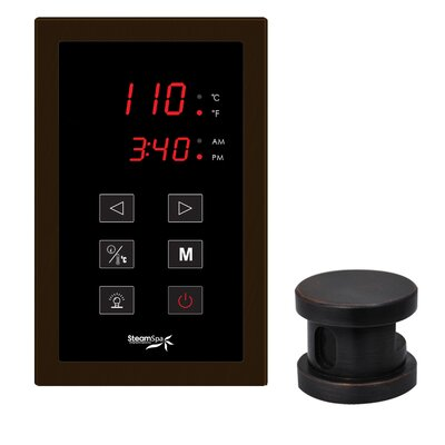 SteamSpa Oasis Touch Panel Kit Steam Generator Control Finish: Oil Rubbed Bronze