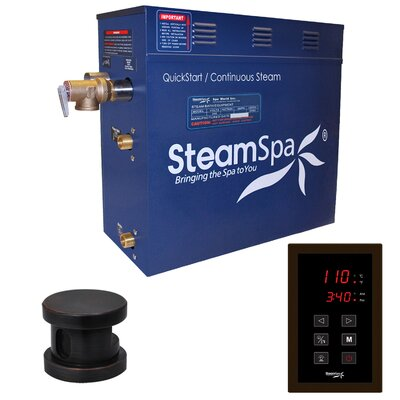 Oasis 9 kW QuickStart Steam Bath Generator Package Finish: Oil Rubbed Bronze