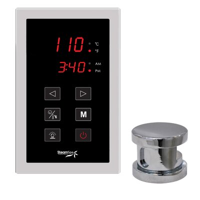 SteamSpa Oasis Touch Panel Kit Steam Generator Control Finish: Chrome