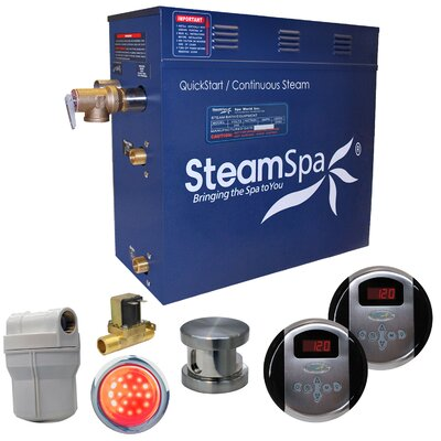 Royal 7.5 kW QuickStart Steam Bath Generator Package with Built-in Auto Drain Finish: Oil Rubbed Bronze