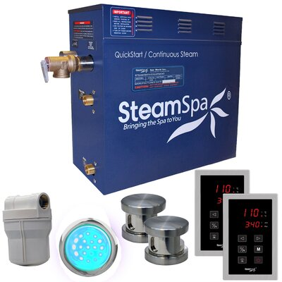 Royal 10.5 kW QuickStart Steam Bath Generator Package Finish: Brushed Nickel