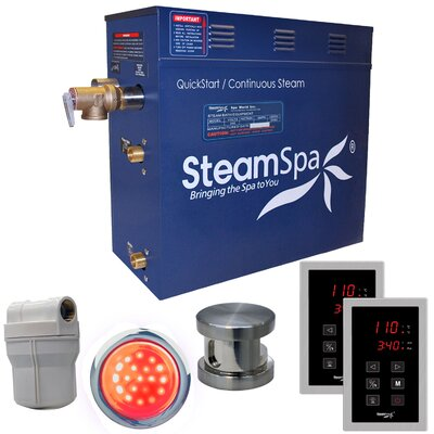 Royal 6 kW QuickStart Steam Bath Generator Package Finish: Brushed Nickel