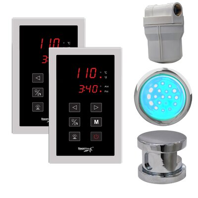 SteamSpa Royal Touch Panel Control Kit in Chrome