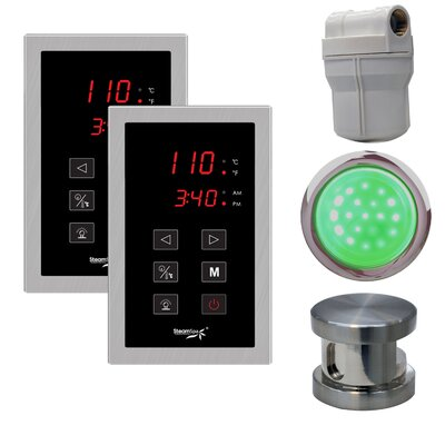 SteamSpa Royal Touch Panel Control Kit Finish: Brushed Nickel