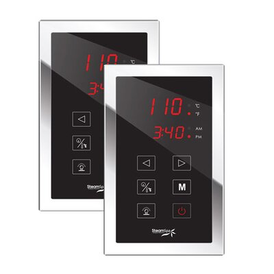 SteamSpa Dual Touch Panel Control System Finish: Chrome