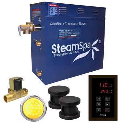 Indulgence 12 kW QuickStart Steam Bath Generator Package with Built-in Auto Drain Finish: Oil Rubbed Bronze