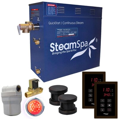 Royal 10.5 kW QuickStart Steam Bath Generator Package with Built-in Auto Drain Finish: Oil Rubbed Bronze