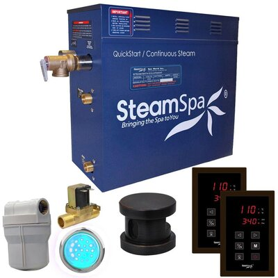 Royal 4.5 kW QuickStart Steam Bath Generator Package with Built-in Auto Drain Finish: Oil Rubbed Bronze