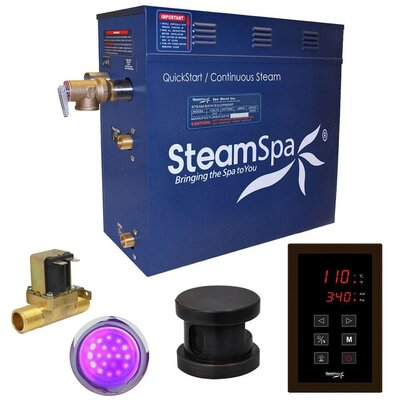 Indulgence 9 kW QuickStart Steam Bath Generator Package with Built-in Auto Drain Finish: Oil Rubbed Bronze