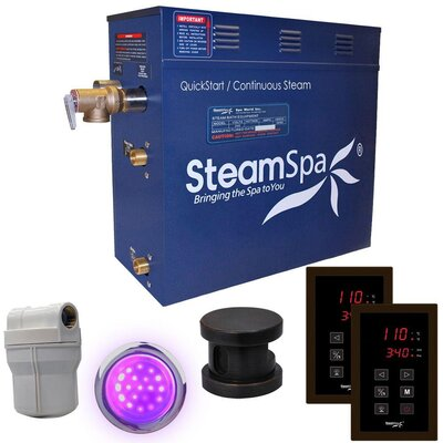 Royal 7.5 kW QuickStart Steam Bath Generator Package Finish: Oil Rubbed Bronze