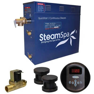 Oasis 10.5 kW QuickStart Steam Bath Generator Package with Built-in Auto Drain Finish: Oil Rubbed Bronze