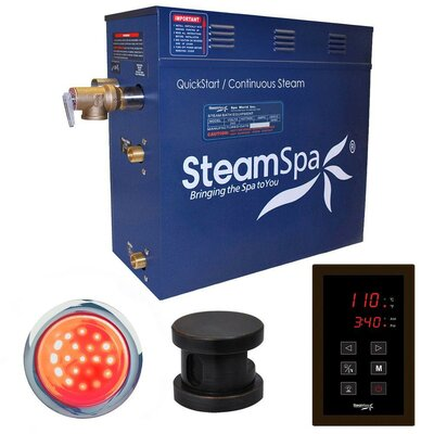 Indulgence 9 kW QuickStart Steam Bath Generator Package Finish: Oil Rubbed Bronze