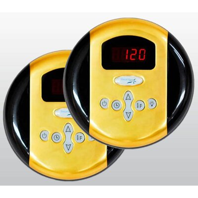SteamSpa Programmable Dual Control Panels Finish: Gold