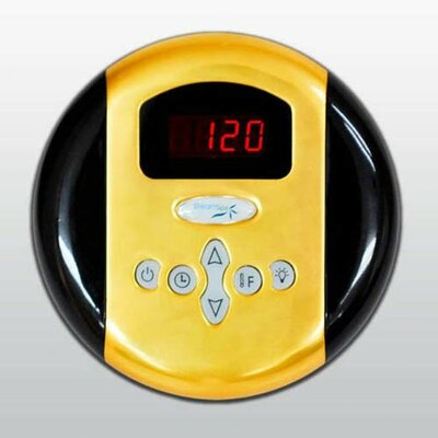 SteamSpa Programmable Control Panel with Presets Finish: Gold