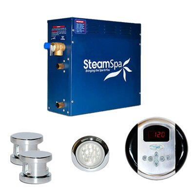SteamSpa Indulgence 10.5 KW QuickStart Steam Bath Generator Package Finish: Chrome