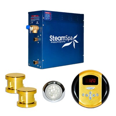 SteamSpa Indulgence 10.5 KW QuickStart Steam Bath Generator Package Finish: Gold