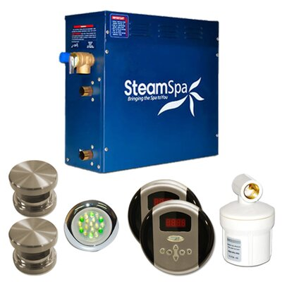 SteamSpa Royal 10.5 KW QuickStart Steam Bath Generator Package Finish: Brushed Nickel
