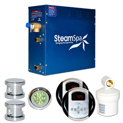SteamSpa Royal 10.5 KW QuickStart Steam Bath Generator Package Finish: Chrome